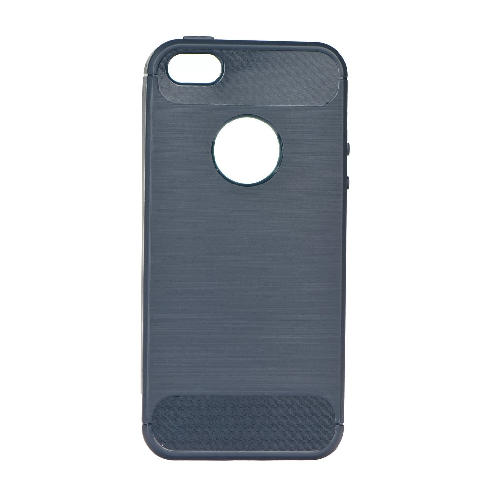 Silikonové pouzdro Carbon Brushed na mobil Apple iPhone SE, 5 a 5S Graphite
