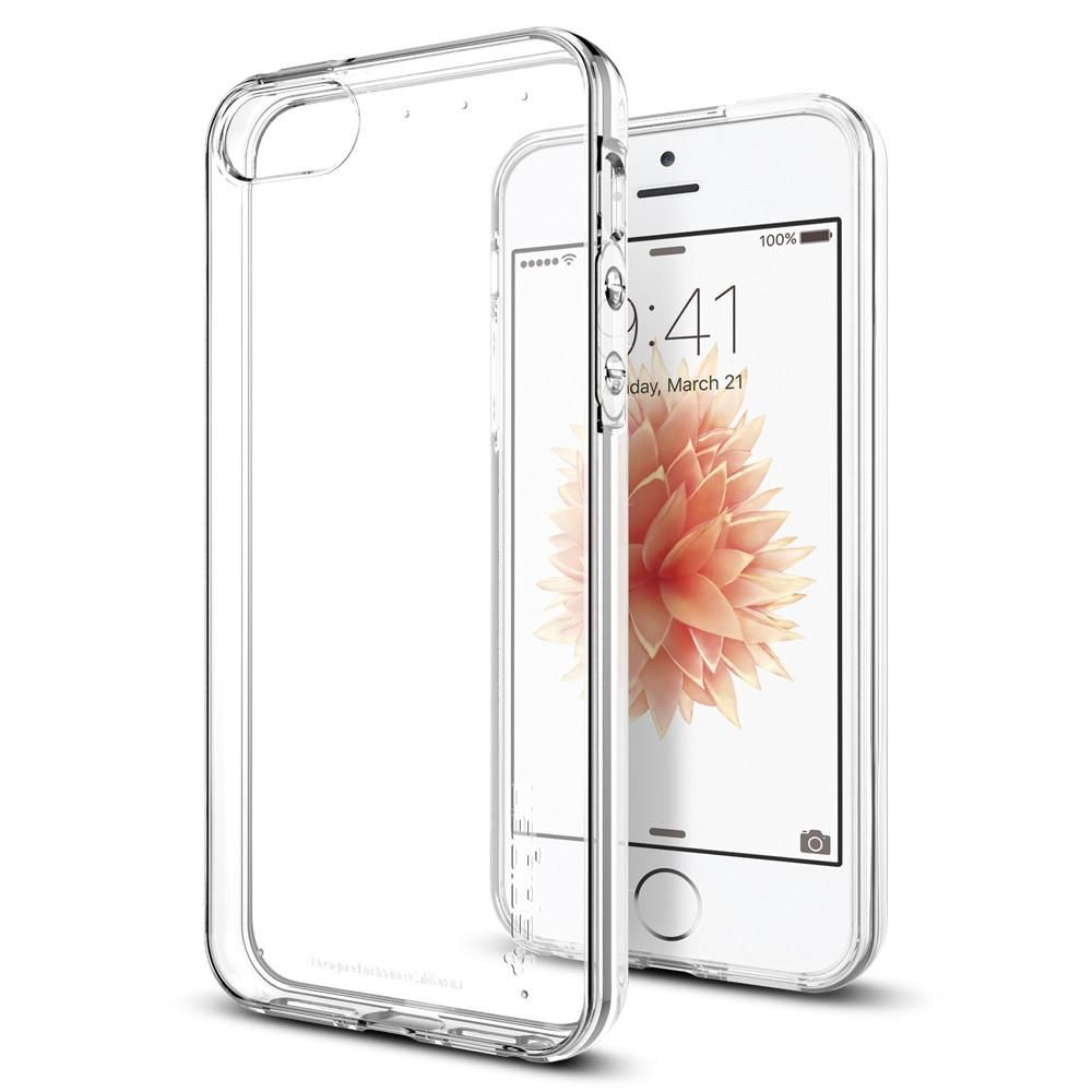 Pouzdro Spigen Liquid Crystal Clear na mobil Apple iPhone 5 a 5S, SE