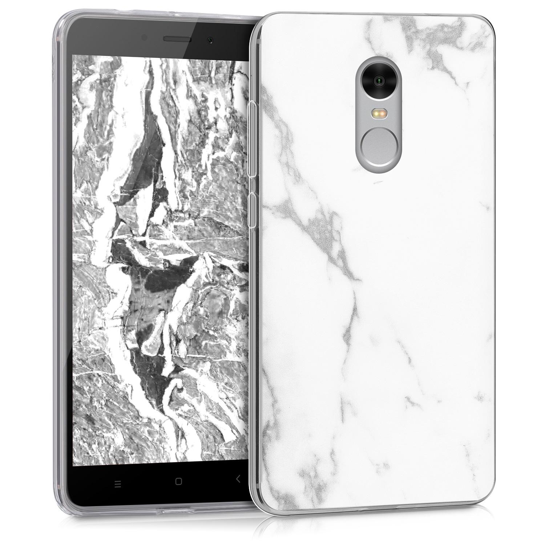 Silikonové pouzdro KWmobile Marble na mobil Xiaomi Redmi Note 4 Global Bl½ mramor empty