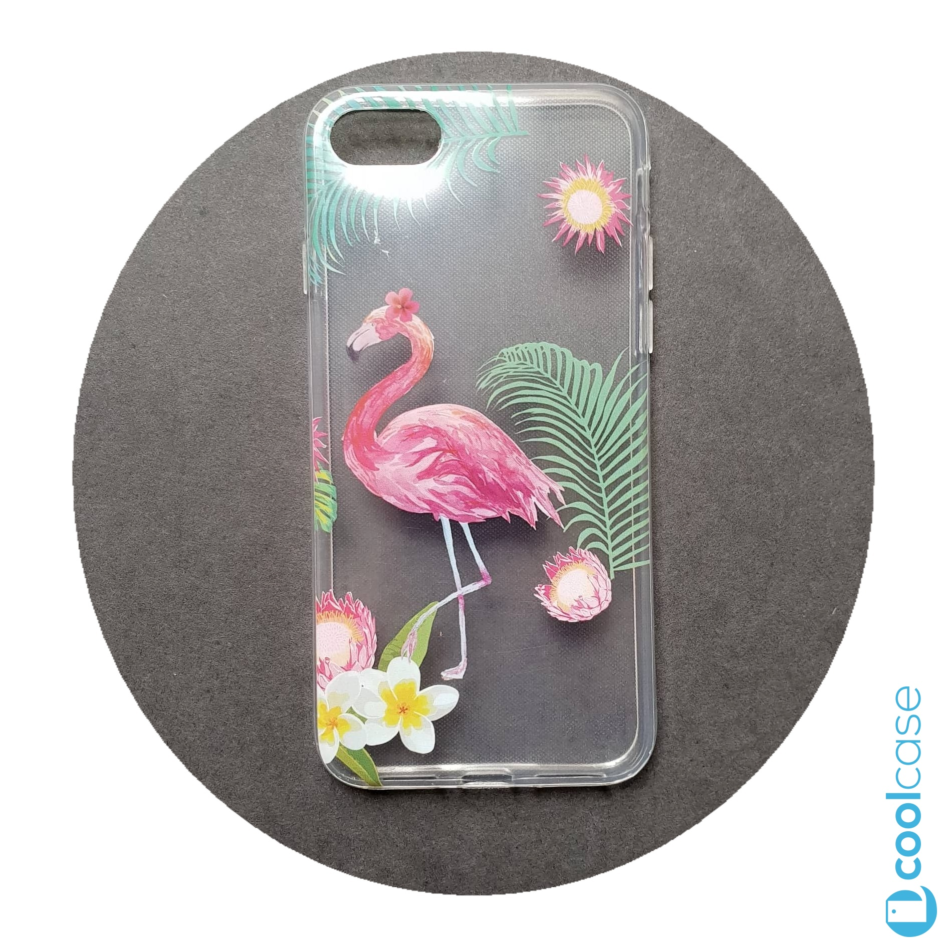 Silikonové pouzdro Forcell Summer FLAMINGO - Plameňák na mobil Apple iPhone 7 / 8 čiré