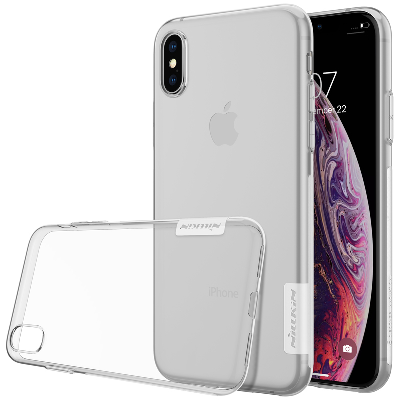 Silikonové pouzdro na mobil Nillkin Nature 0,6 mm Apple iPhone X / XS čiré