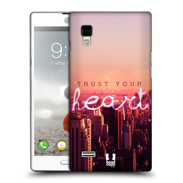 Plastové pouzdro na mobil LG Optimus L9 P760 HEAD CASE TRUST YOUR HEART