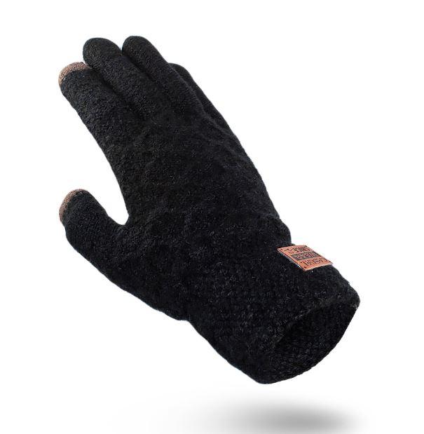 Rukavice na dotykový displej mobilu TOUCH GLOVES MEN pánské - černé ... 2600a15f3c