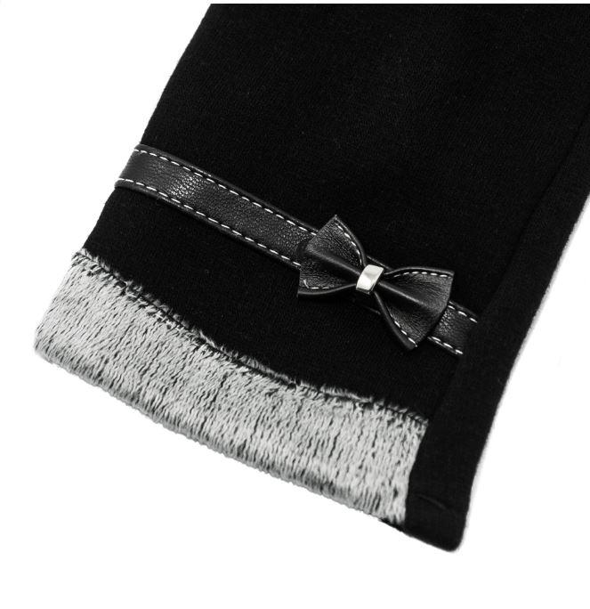Rukavice na dotykový displej mobilu BOW Dámské - černé  75b82fc621