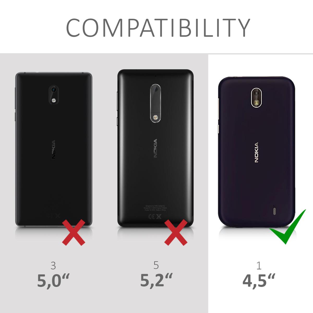 Luxusní flipové pouzdro KWmobile Canvas Wallet na mobil Nokia 1 šedé ... 0c38771af8e