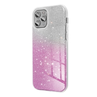 Třpytivé pouzdro Forcell Shining na mobil Samsung Galaxy A02s Pink Silver