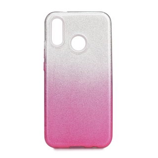 Třpytivé pouzdro Forcell Shining na mobil Samsung Galaxy A40 Pink Silver