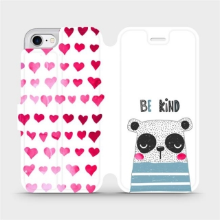 Parádní flip pouzdro Mobiwear - MH05S - Be kind na mobil Apple iPhone 7 / Apple iPhone 8 / Apple iPhone SE 2020