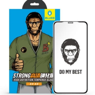 Ochranné sklo 5D Mr. Monkey Glass na celý displej Apple iPhone 12 Mini černé (Strong HD)