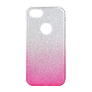 Třpytivé pouzdro Forcell Shining na mobil Apple iPhone 7 / 8 Pink Silver