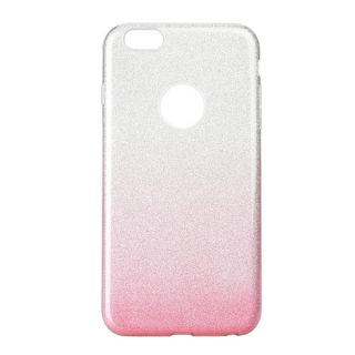 Třpytivé pouzdro Forcell Shining na mobil Apple iPhone 5, 5S a SE Pink silver