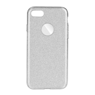 Třpytivé pouzdro Forcell Shining na mobil Apple iPhone 7 / 8 Silver