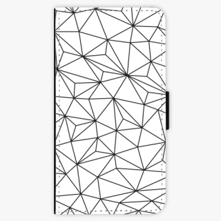 Flipové pouzdro iSaprio - Abstract Triangles 03 black na mobil Samsung Galaxy A5 2016