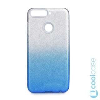 Třpytivé pouzdro Forcell Shining na mobil Huawei Y6 Prime 2018 / Honor 7A Blue Silver