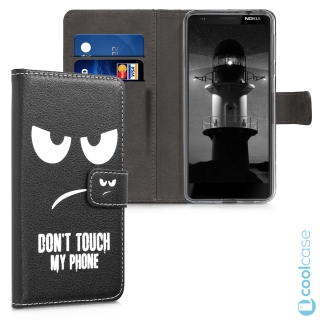 Flipové pouzdro KWmobile Chic Wallet na Nokia 3.1 Don´t touch