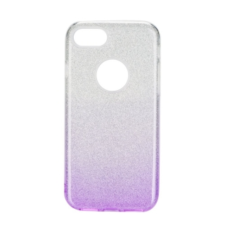 Třpytivé pouzdro Forcell Shining na mobil Huawei Y5 2018 / Honor 7S Purple silver
