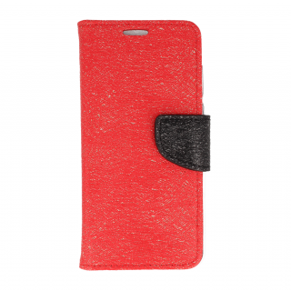 Flipové pouzdro na mobil FANCY BOOK Huawei P Smart red-black shine