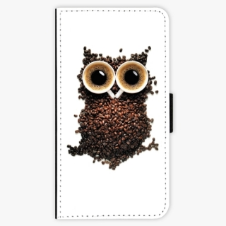Flipové pouzdro iSaprio - Owl And Coffee na mobil Samsung Galaxy S6 Edge