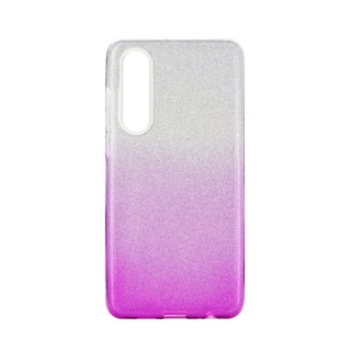 Třpytivé pouzdro Forcell Shining na mobil Huawei P30 Pink Silver