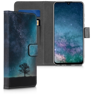 Flipové pouzdro KWmobile Chic Wallet Galaxie - Strom na Huawei P Smart 2019 / Honor 10 Lite