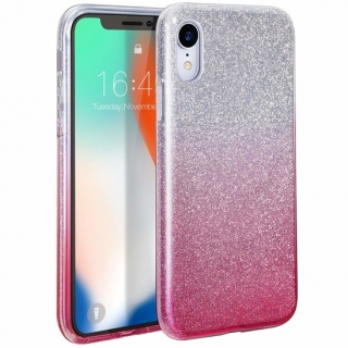 Třpytivé pouzdro Forcell Shining na mobil Samsung Galaxy A80 Silver Pink