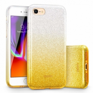 Třpytivé pouzdro Forcell Shining na mobil Samsung Galaxy A80 Silver Gold