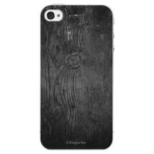 Plastové pouzdro iSaprio Black Wood 13 na mobil Apple iPhone 4/4S