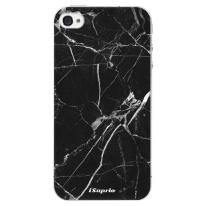 Plastové pouzdro iSaprio Black Marble 18 na mobil Apple iPhone 4/4S