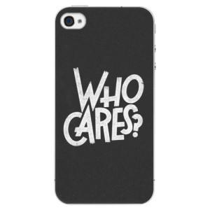 Plastové pouzdro iSaprio Who Cares na mobil Apple iPhone 4/4S