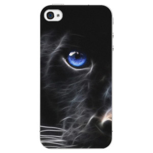 Plastové pouzdro iSaprio Black Puma na mobil Apple iPhone 4/4S