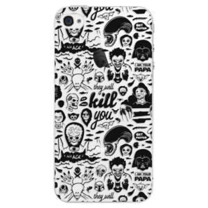 Plastové pouzdro iSaprio Comics 01 black na mobil Apple iPhone 4/4S