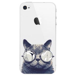Plastové pouzdro iSaprio Crazy Cat 01 na mobil Apple iPhone 4/4S