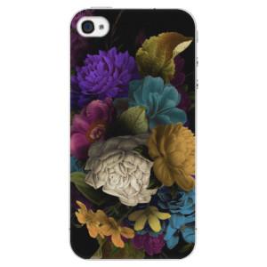 Plastové pouzdro iSaprio Dark Flowers na mobil Apple iPhone 4/4S