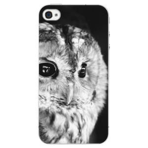 Plastové pouzdro iSaprio BW Owl na mobil Apple iPhone 4/4S