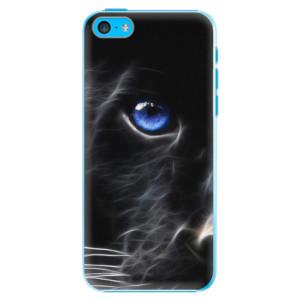 Plastové pouzdro iSaprio Black Puma na mobil Apple iPhone 5C