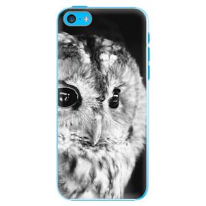Plastové pouzdro iSaprio BW Owl na mobil Apple iPhone 5C