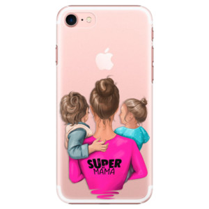 Plastové pouzdro iSaprio Super Mama Boy and Girl na mobil Apple iPhone 7