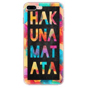 Plastové pouzdro iSaprio Hakuna Matata 01 na mobil Apple iPhone 7 Plus  - poslední kus za tuto cenu