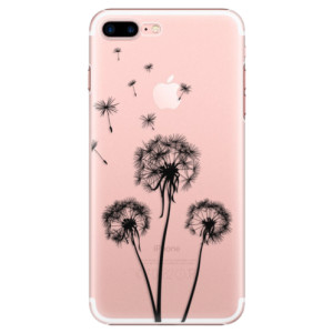 Plastové pouzdro iSaprio Three Dandelions black na mobil Apple iPhone 7 Plus