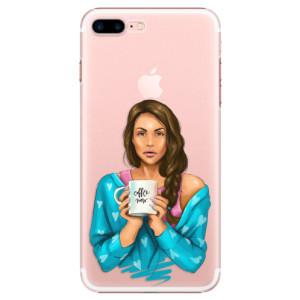 Plastové pouzdro iSaprio Coffe Now Brunette na mobil Apple iPhone 7 Plus