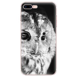 Plastové pouzdro iSaprio BW Owl na mobil Apple iPhone 7 Plus