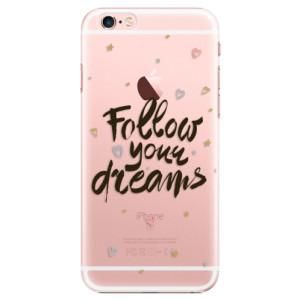 Plastové pouzdro iSaprio Follow Your Dreams black na mobil Apple iPhone 6 Plus/6S Plus