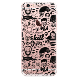 Plastové pouzdro iSaprio Comics 01 black na mobil Apple iPhone 6 Plus/6S Plus