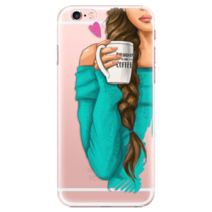 Plastové pouzdro iSaprio My Coffe and Brunette Girl na mobil Apple iPhone 6 Plus/6S Plus