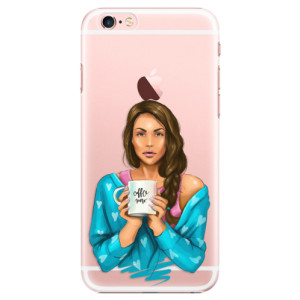 Plastové pouzdro iSaprio Coffe Now Brunette na mobil Apple iPhone 6 Plus/6S Plus