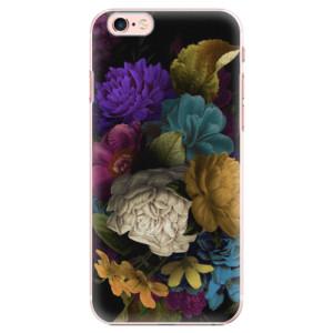 Plastové pouzdro iSaprio Dark Flowers na mobil Apple iPhone 6 Plus/6S Plus