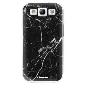 Plastové pouzdro iSaprio Black Marble 18 na mobil Samsung Galaxy S3