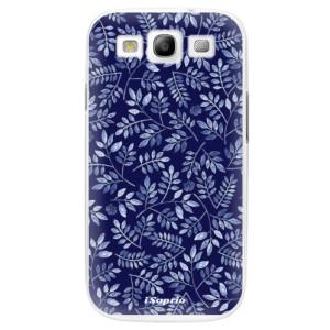 Plastové pouzdro iSaprio Blue Leaves 05 na mobil Samsung Galaxy S3