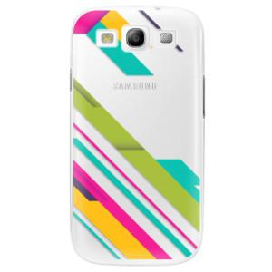 Plastové pouzdro iSaprio Color Stripes 03 na mobil Samsung Galaxy S3