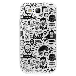 Plastové pouzdro iSaprio Comics 01 black na mobil Samsung Galaxy S3